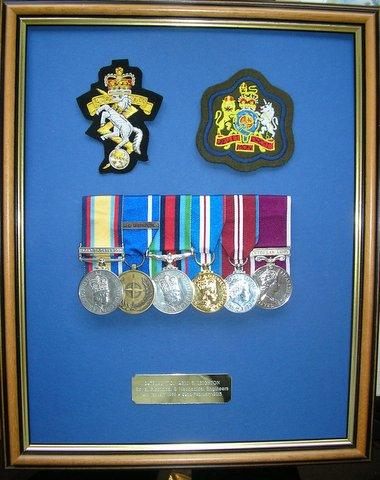Framing Service for military medals and football shirts